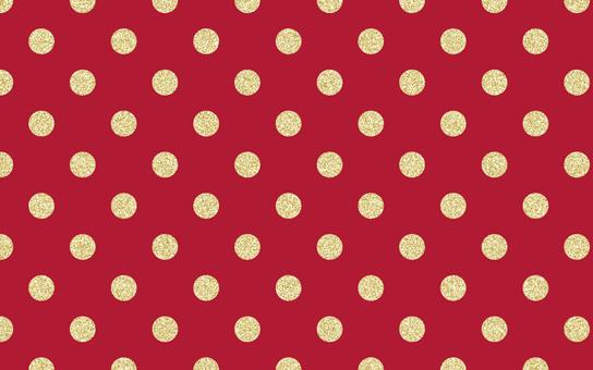 Dot pattern lame red