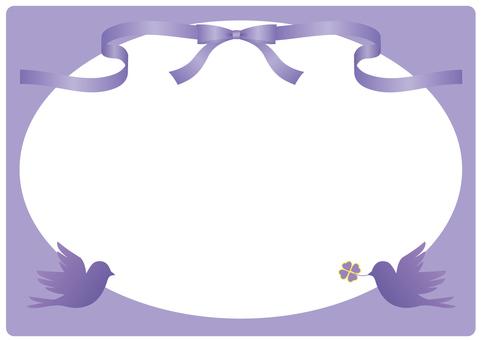 Ribbon and bird frame (purple)