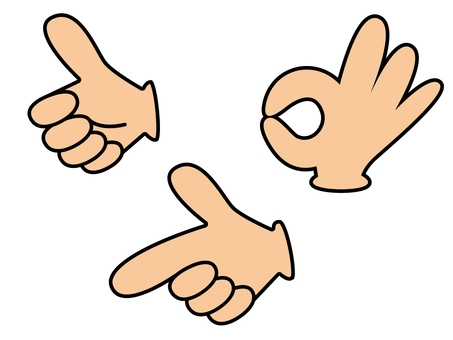 Hand sign 16 sets