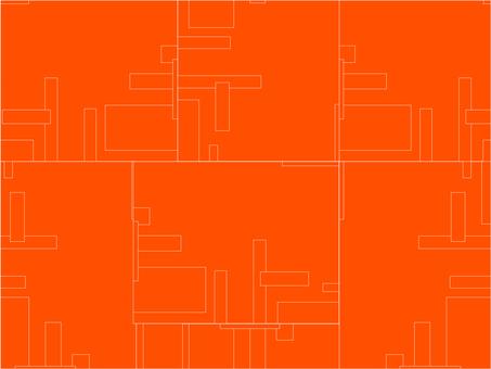 Vivid Orange & Line