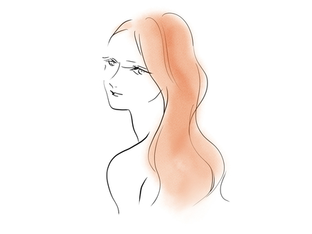 Woman looking back (color)