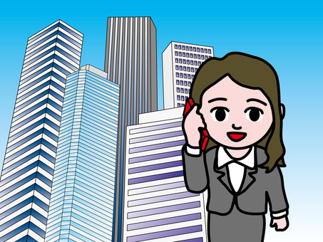 Office City (1) Telephone Woman