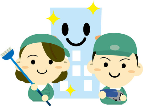 Building cleaning staff