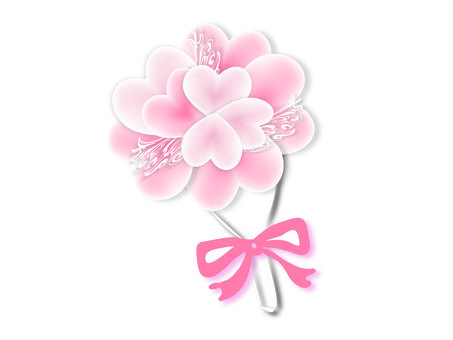 Heart bouquet pink