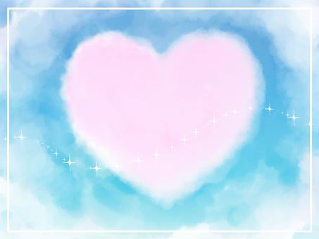 Heart cloud - blue