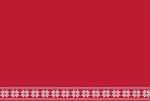 Postcard knit red
