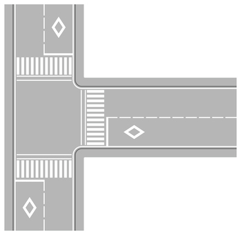 Road with intersection 1