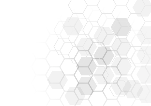 白のネットワーク六角形抽象背景素材