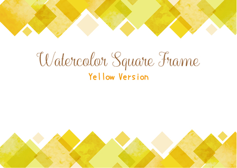 Watercolor square frame 1 · yellow color Ver