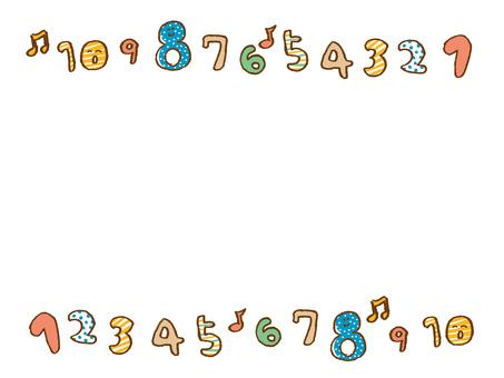 Numeric frame