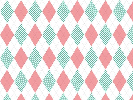 Argyle ● Pink × striped green