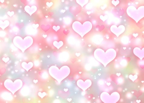 Translucent heart x dull color wallpaper