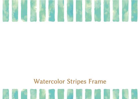 Watercolor Wind Stripe Frame 1