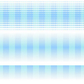 ドットグラデーション7・ブルー