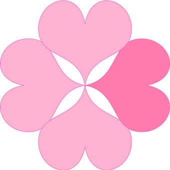 Four leaf clover _ pink