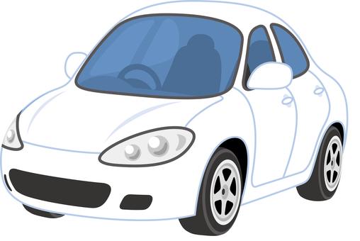 Car sedan white