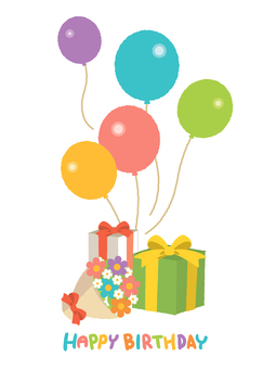 Birthday (balloon, bouquet, gift)