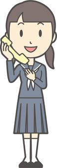 Junior high school sailor woman -313-