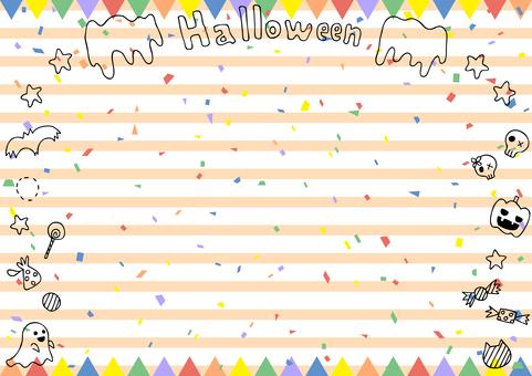 Halloween flag frame stripe