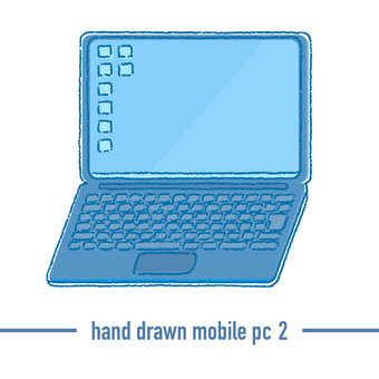 手繪簡單筆記本電腦