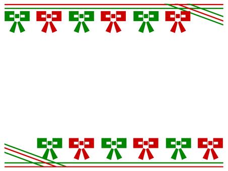 Christmas frame (ribbon)