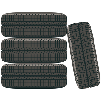 Tire-01 (4 pieces set)