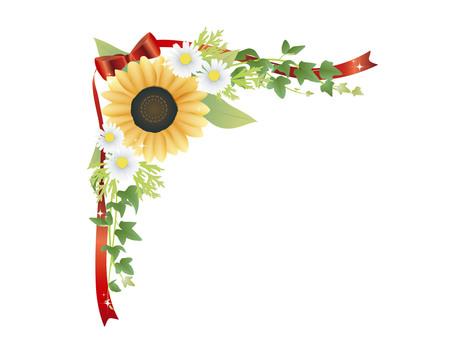 Sunflower frame top left