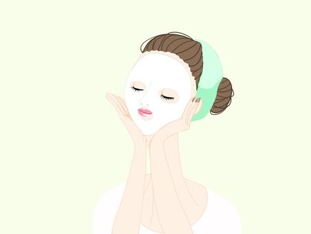 Seat mask woman