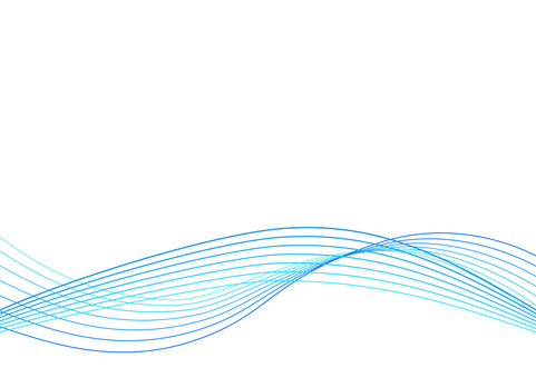 Blue abstract wavy line background material