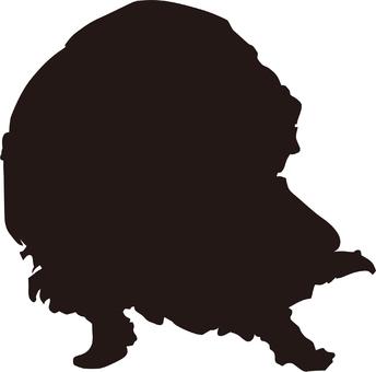 Ukiyo-e silhouette 347