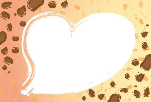 Card leopard heart Heart