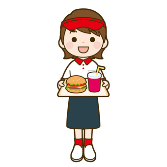 Fast food clerk