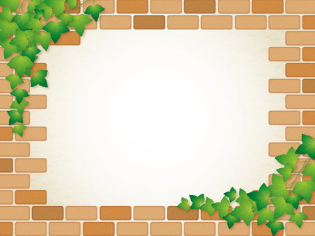 Brick wall and ivy frame