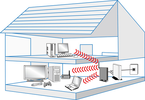 Free illustration Free material Wireless network house