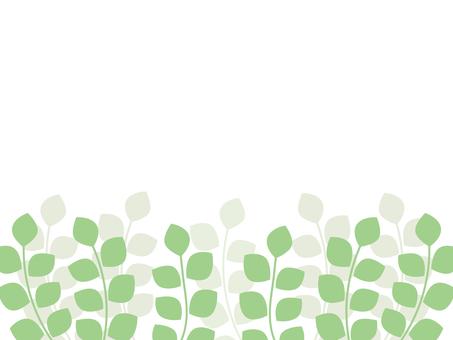 ナチュラルな草木のフレーム