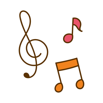 Musical note set