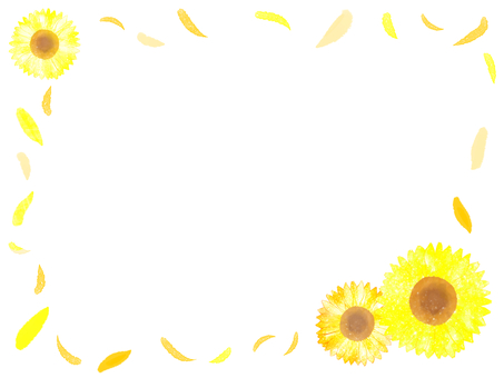 Sunflower frame (Orange · yellow)