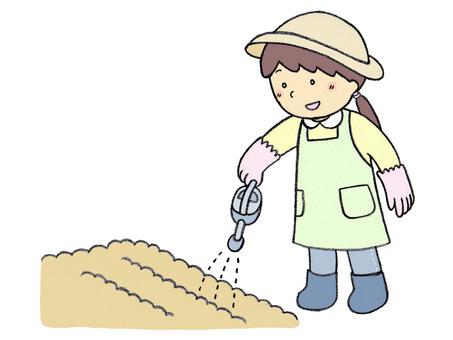 Gardening (watering)