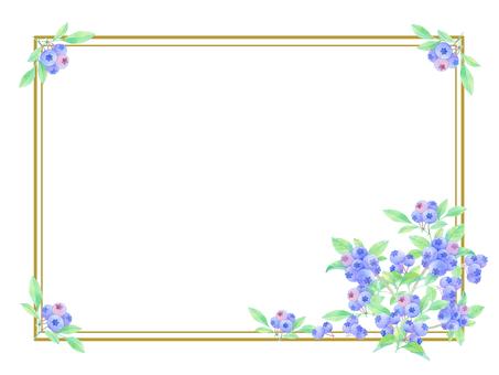 Blueberry decorative frame ★ 0387-W