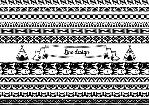 Line design ethnic