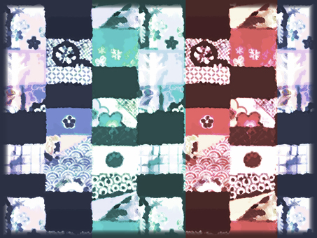 Japanese pattern background (3 colors)