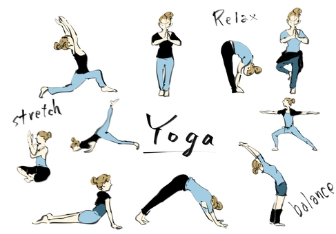 Yoga pose collection (color)