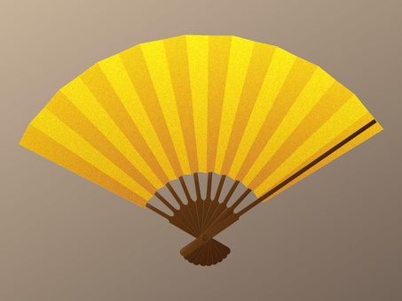 Fan gold leaf wind shadowless