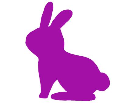 兔子剪影紫色