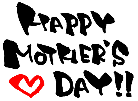 "Brush character ""Mother's Day"" Red Heart"