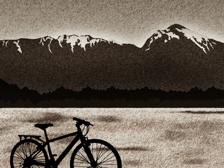 Southern Alps and a bicycle