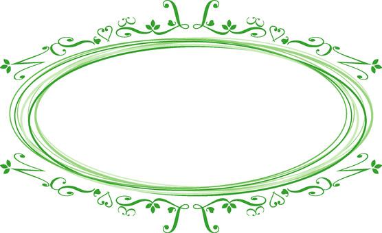 優雅的框架橢圓綠色