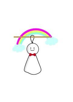 A rainbow and a shabby
