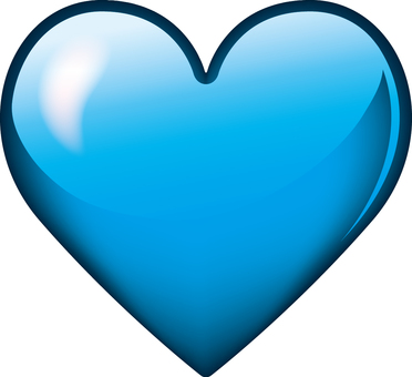 Heart _ three-dimensional _ light blue