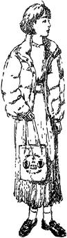 Girl_long skirt